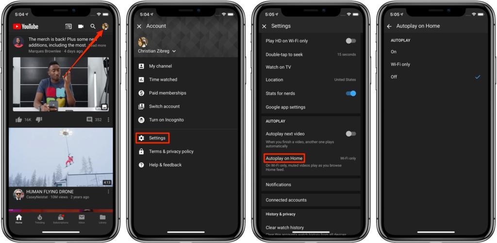 التشغيل التلقائي لمقاطع الفيديو في يوتيوب 1024x500 - بالصور.. تعرف على كيفية إيقاف التشغيل التلقائي لمقاطع الفيديو في يوتيوب