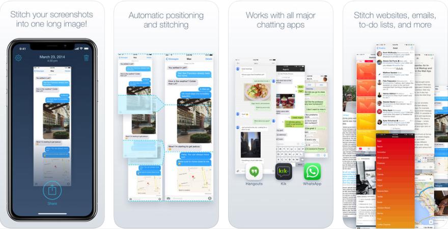 1 1 - تطبيق Tailor - Screenshot Stitching لدمج عدة صور في صورة واحدة