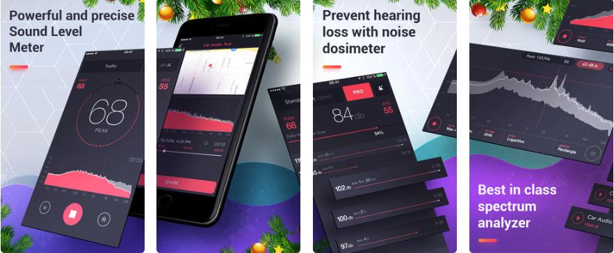 1 2 - تطبيق Decibel لقياس شدة الصوت بالسيارة أو بالمنزل أو اي مكان اخر