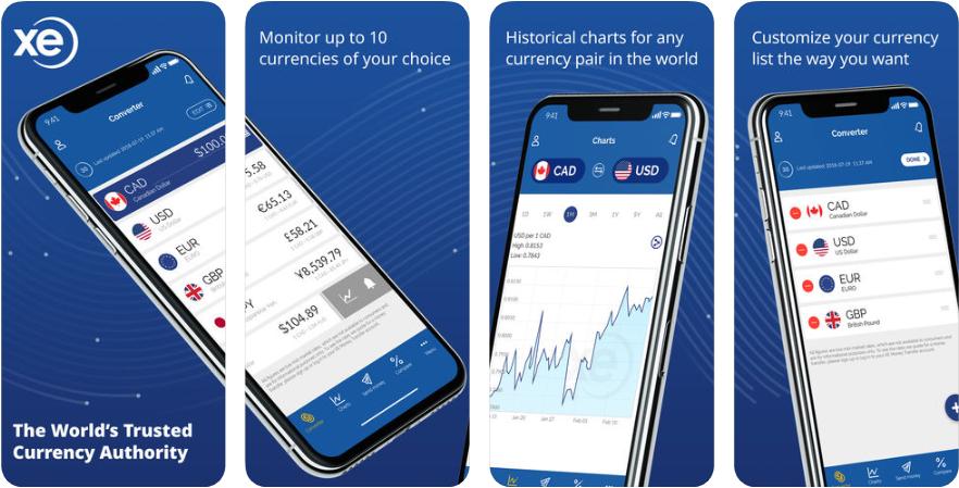 11111 - تطبيق XE Currency الأفضل لتحويل العملات والمقارنة بينها، يتجدد باستمرار