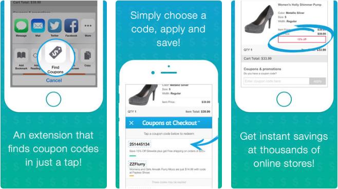 3 1 - تطبيق Coupons at Checkout للحصول على كوبونات خصم لمواقع شهيرة مثل أمازون وغيرها