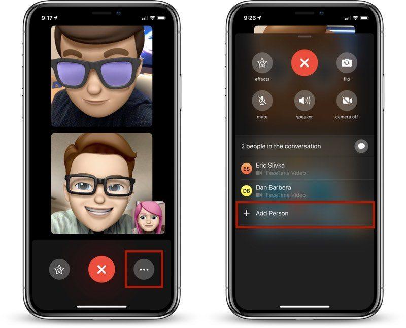 addpersongroupfacetime 800x646 - بعد حل مشكلته الأخيرة الخطيرة، تطبيق FaceTime يعاني من مشكلة جديدة