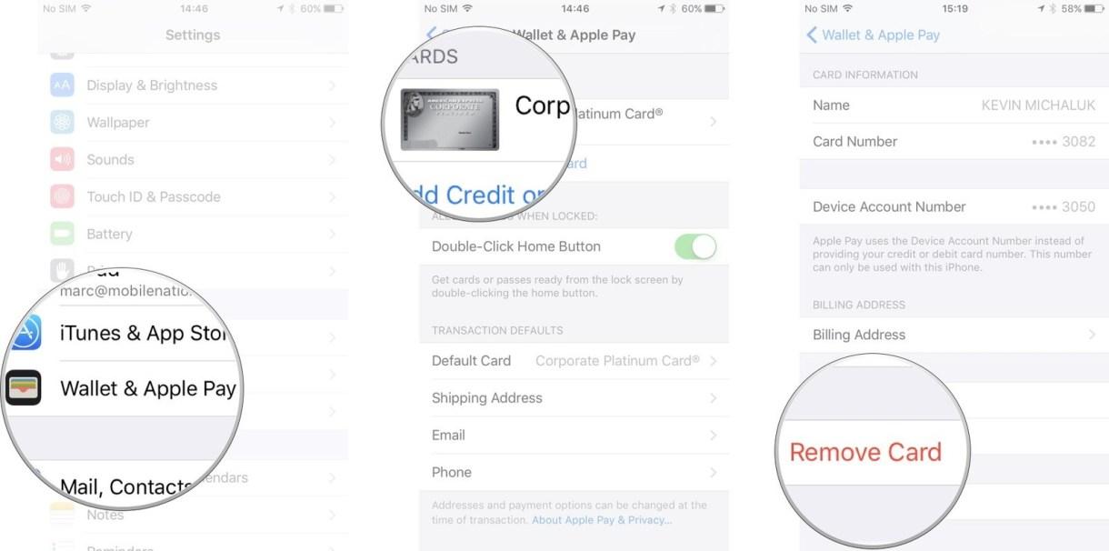 applepay iphone delete card screens 01 - تعرف على كيفية استخدام خدمة Apple Pay وإزالة بطاقة أو تحديدها كافتراضية