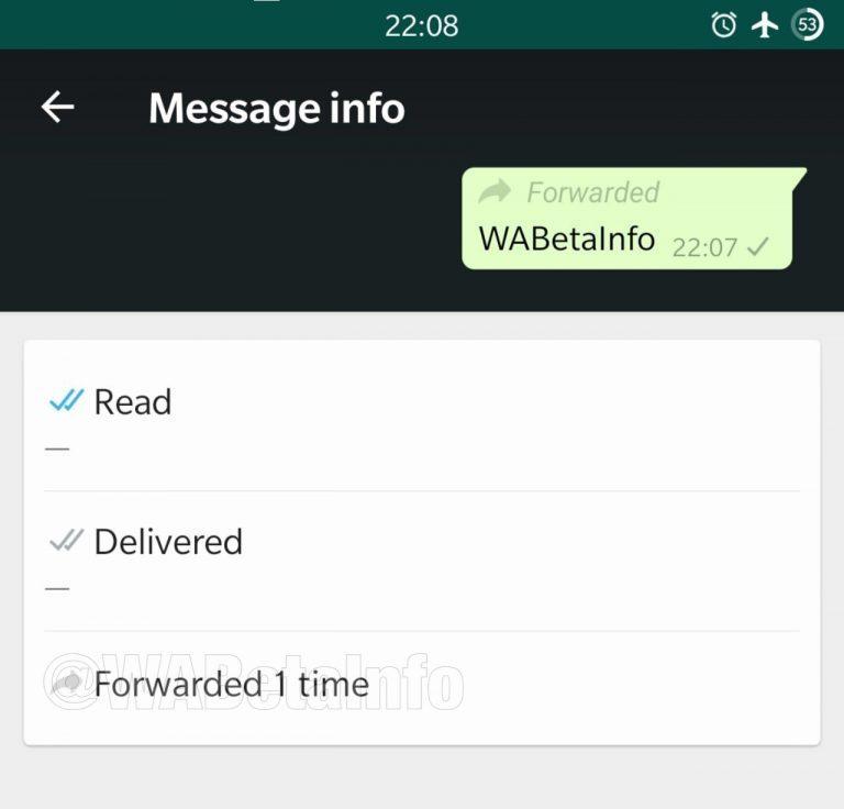 آب - تطبيق واتساب يختبر ميزة جديدة تختص بالرسائل المعاد توجيهها بشكل متكرر