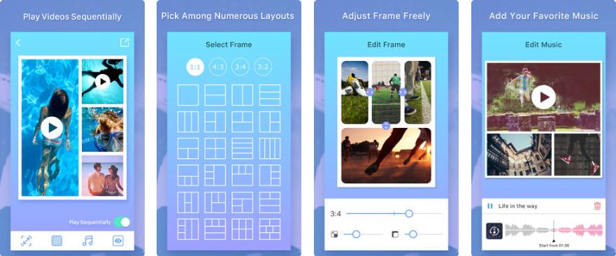 1 9 - تطبيق Photo & Video Collage Maker يعطيك قوالب وأشكال مختلفة لعرض صورك