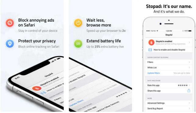 111 - تطبيق StopAd The Best Ad Blocker لحذف الإعلانات من متصفح سفاري