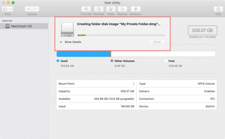 5 1 - بالصور.. تعرف على كيفية تشفير وحماية المجلدات بكلمة مرور على حاسب macOS