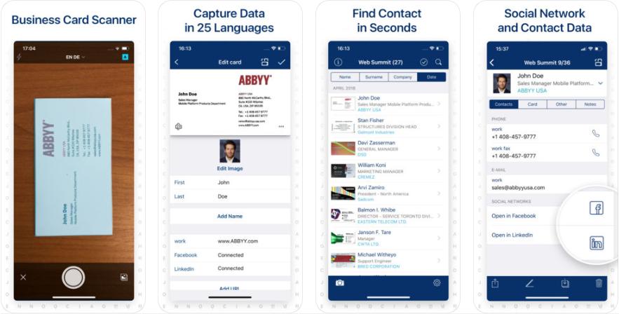 1 4 - تطبيق Business Card Scanner لتصوير بطاقات الأعمال أو الفواتير والاحتفاظ بها بشكل مرتب