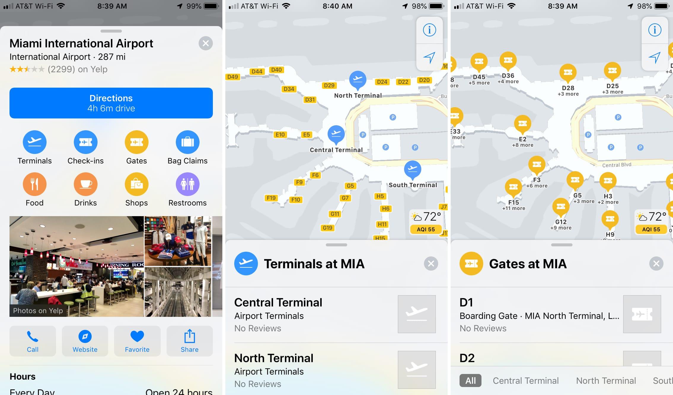 11 7 - بالصور.. تعرف على كيفية استخدام الخرائط الداخلية للمطارات ومراكز التسوق في خرائط آبل