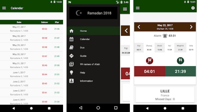 11 - تطبيق رمضان 2019 به العديد من المزايا مثل تنبيه السحور والإفطار ومواقيت الصلاة وغيرها
