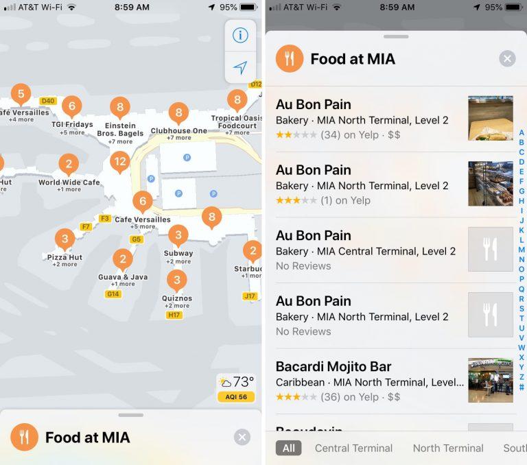 22 6 - بالصور.. تعرف على كيفية استخدام الخرائط الداخلية للمطارات ومراكز التسوق في خرائط آبل