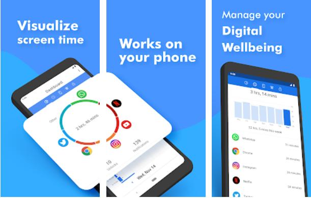 Screenshot 1 - تطبيق ActionDash لمعرفة الوقت الذي تقضيه على كل التطبيقات واحصاءات اخرى