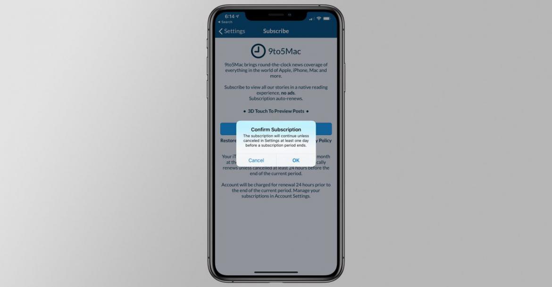 app store subscriptions 1170x610 - للحد من الإشتراك في الخدمات عن طريق الخطأ، آبل تضيف هذه النافذة