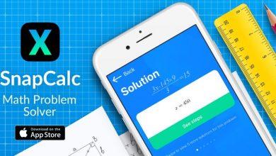 snapcalc 390x220 - تطبيق SnapCalc لحل المسائل الرياضية بسهولة بالتقاط الصور لها