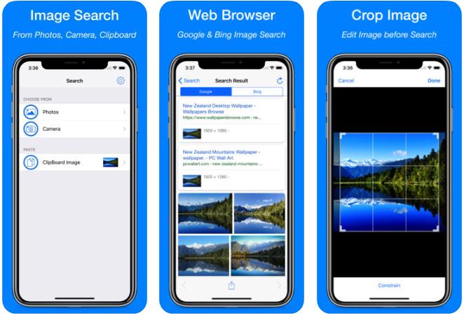 11 - تطبيق Reverse Image Search App للبحث عن مصدر الصور ومكان شراء المنتجات فيها