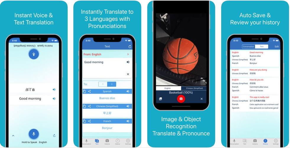 1111 - تطبيق Multi Translate Voice للترجمة الفورية بالصوت والتصوير والكتابة لأكثر من 100 لغة