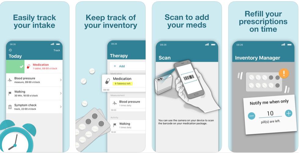 2 3 - تطبيق MyTherapy Pill Reminder يذكرك بمواعيد الأدوية وتتبع حرارة جسمك وغير ذلك