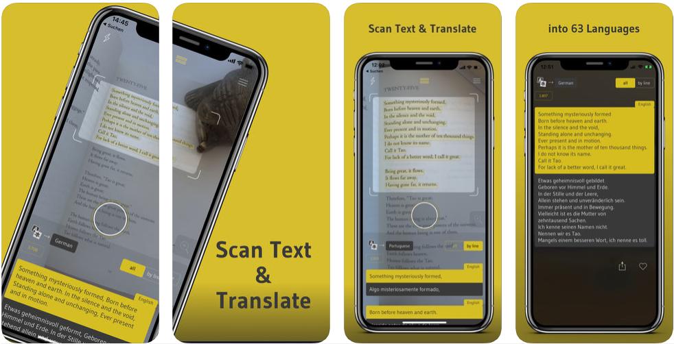 Screenshot 1 - تطبيق Scan Text & Translate - Elaze يترجم أي نص أمامك عن طريق تصويرة