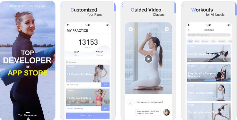 Screenshot 3 - تطبيق Daily Yoga به مكتبة كبيرة تحتوي على 500 وضعيه للرياضه اليوغا