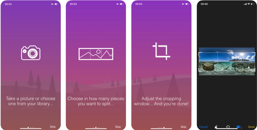 Screenshot - تطبيق Unsquared For Instagram لنشر صور بانورامية بحجمها الكامل على انستجرام