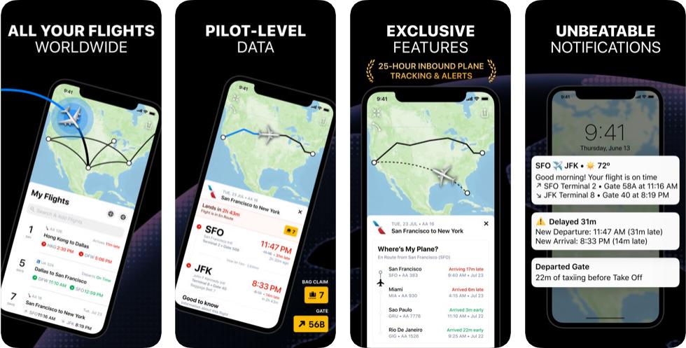 22 7 - تطبيق Flighty - Live Flight Tracker لمشاهدة بيانات أي رحلة وتتبع الرحلات وحركة الطيران