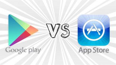 google play vs appstore 610x430 390x220 - على الرغم من النمو الكبير في إيرادات الاخير إلا أن آب ستور لا يزال أعلى من جوجل بلاي