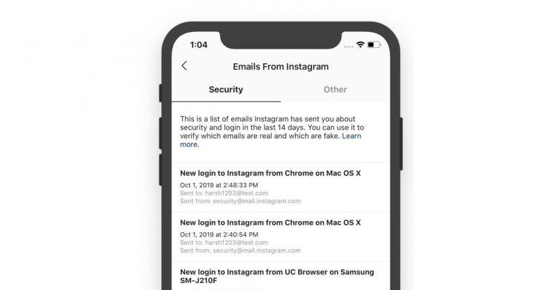 instagram emails hed 796x417 - إنستجرام تضيف ميزة أمنية لاكتشاف رسائل البريد الإلكتروني المزيفة